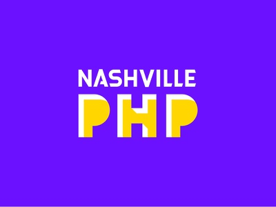 NashvillePHP Branding lettering identity logo website webdesign ui php nashville indigo electric branding