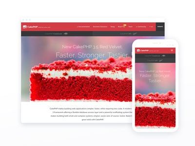CakePHP Website cakephp branding ui php blog webdesign design website
