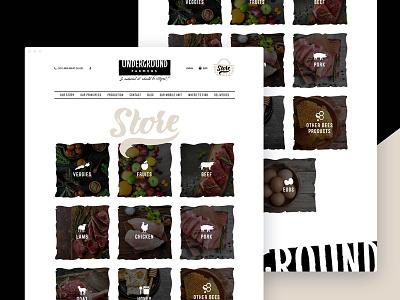 Underground Farmers webdesign homepage store ecommerce farm