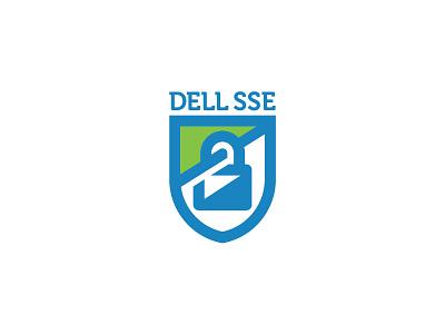 DELL SSE Logo locker shield branding brand identity logo dell