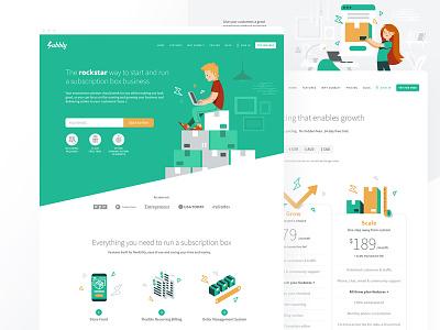 Subbly Website ui subbly webdesign website identity branding