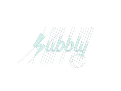Subbly Logo Construction Grid construction grid typography lettering subbly lightning thunder design identity branding brand logo