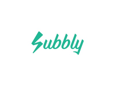 Subbly Logo typography lettering subbly lightning thunder design identity branding brand logo