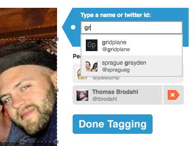Ptagr - Tagging Interface interface tagging twitter people ptagr