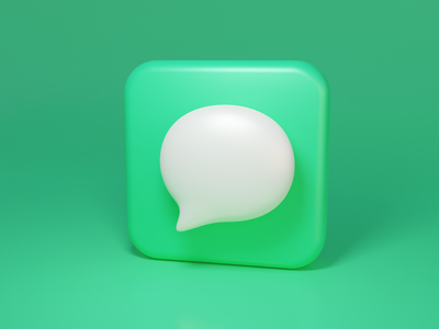 Message icon blender icon 3d ui