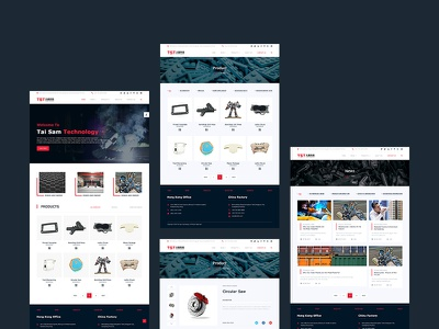 TST Pages technology web homepage home design