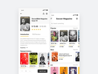 Soccer Magazine interface design design ui magazine soccer app