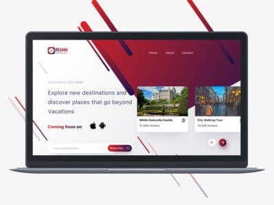 Explore App Landing Page