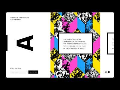 Pia ui web design womenswear branding