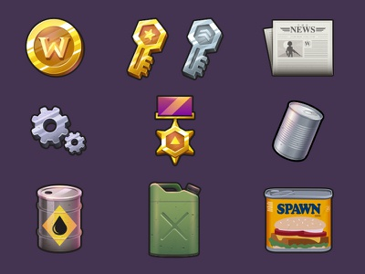 Medals of War - Icons vector icons icons ww2
