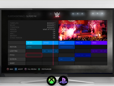 WWE 2K17 advanced entrance editor