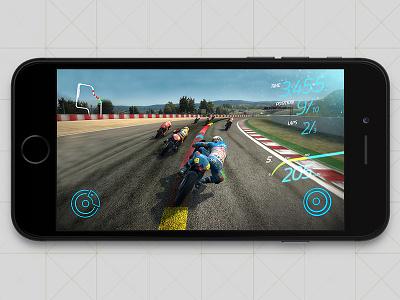 Moto GP Racing UI design
