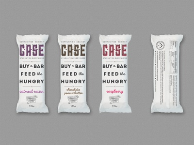 C.A.S.E Bars - Wrapper Designs product design food packaging