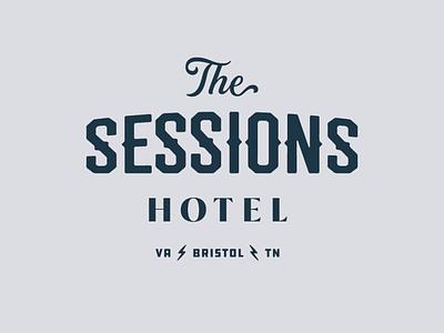 Sessions Hotel Logo branding brand strategy logo designer hospitality brand identity logo design logo