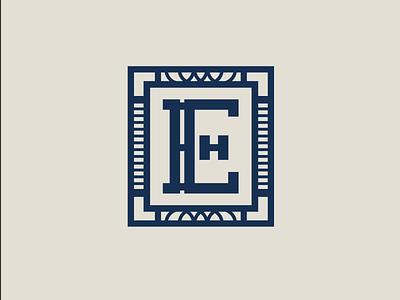 Hotel Elkhart Monogram icon logo design logo hospitality branding brand identity