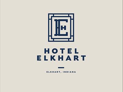 Hotel Elkhart Logo logo designer logo logo design hospitality branding brand identity