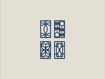 Hotel Elkhart icon set design logo designer logo design logo hospitality branding brand identity