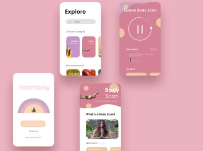 Meditation App UI Concept