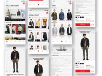 UNIQLO .  E-Commerce Redesign