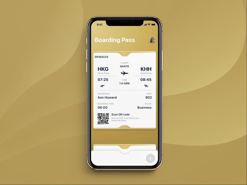 #024 - Boarding Pass ux boardingpass luxury gold golden history tickets plane air boarding ui challange daily ui ui