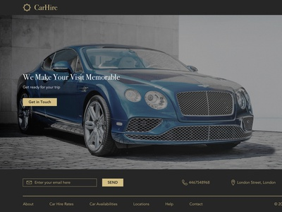 Hire Car design web typography branding logo ux wireframing user centre design information architecture
