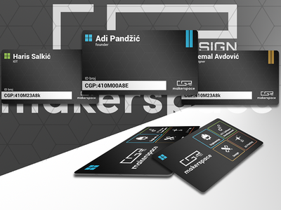ID Card design black edition