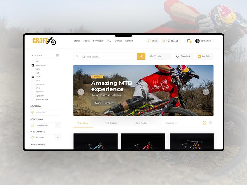 Craft Bike Land Page sport landpage designer web webdesign uiux ui bike