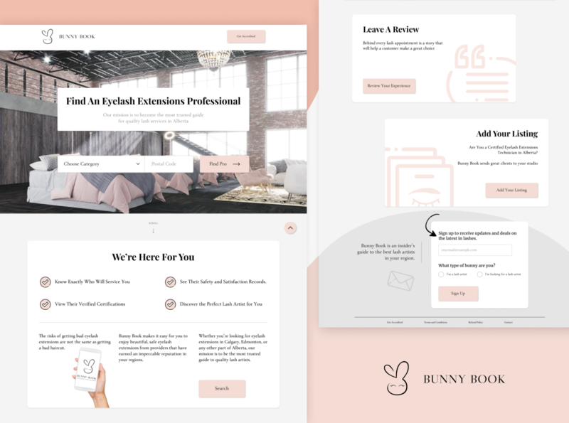 Bunny Book Landing Page