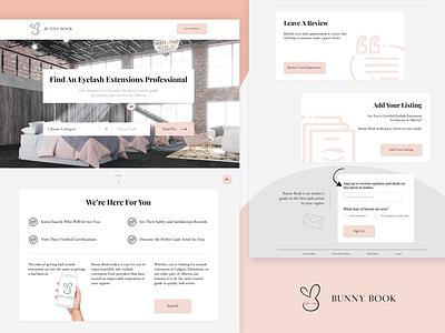 Bunny Book Landing Page search web design typography flat design branding website landing page landing minimal web