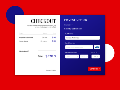 Credit Card Checkout - Daily UI design flat type ux typography branding daily dailui website web ui minimal