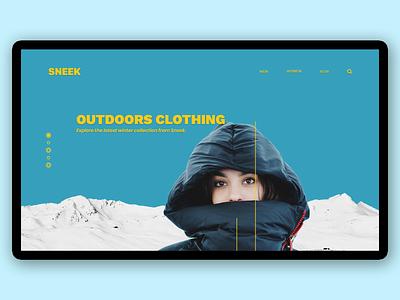 Sneek - Outdoor clothing website dailyui web website design ui