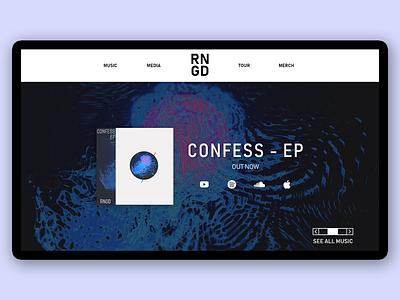 RNGD - Music producer landing page dailyui web website design ui