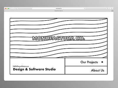 MONOFACTURA - Landing Page flat vector typography illustration minimal branding website web design ui