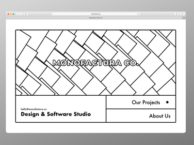 MONOFACTURA - Landing Page (Variant) vector illustration typography flat minimal branding website web design ui