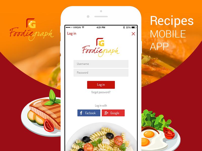 Recipes Mobile App recipes mobile app development foodiegraph mobile app