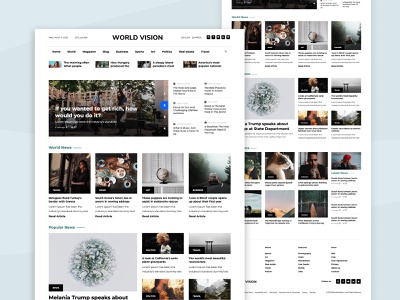 News Website Templates html template templates bootstrap4 website design webdesign news