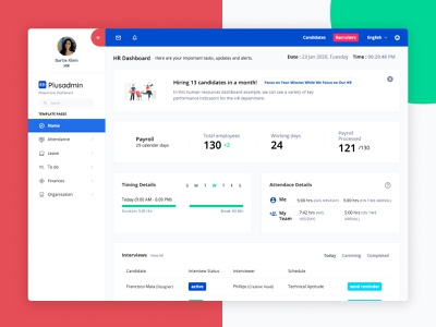 HR Dashboard Templates admin dashboard ui ux website design bootstrap bootstrap 4 product dashboard