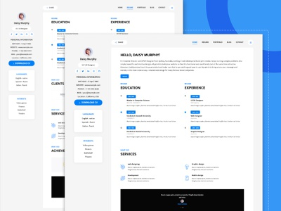 Free Bootstrap Resume Templates ux design website ui product bootstrap dashboard resume bootstrap 4