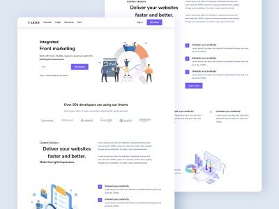 Business Landing Page bootstrap 4 bootstrap ux website product design landing page design landing page uikit ui