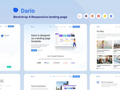 Dario Landing Page vectors concept illustration icons webapp ux design web website website design vector landing page design ui landingpage