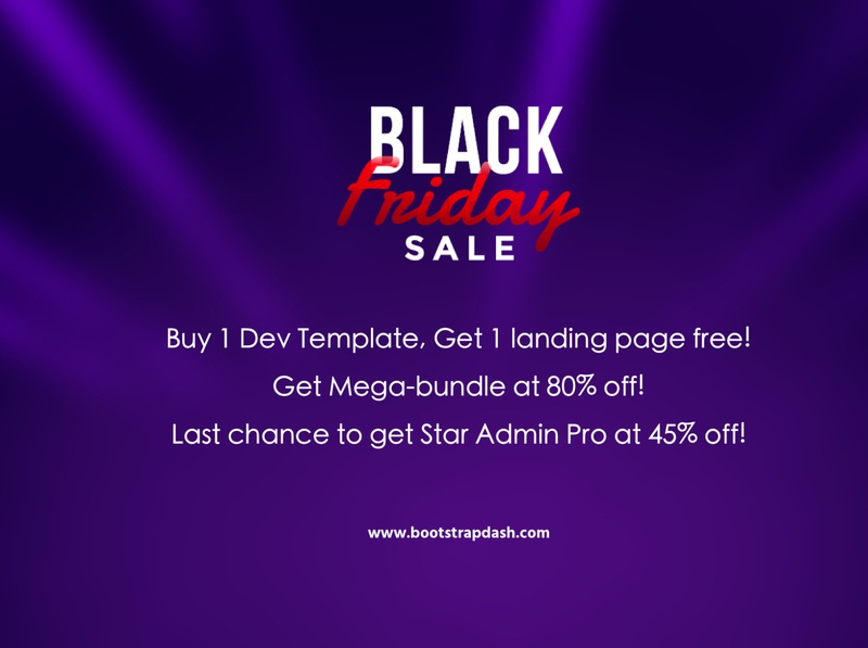 Bootstrapdash Black Friday 2019 sales black friday sale offers table cards widgets button components chart product analytical admin dashboard website bootstrap 4 bootstrap graph dashboard webapp