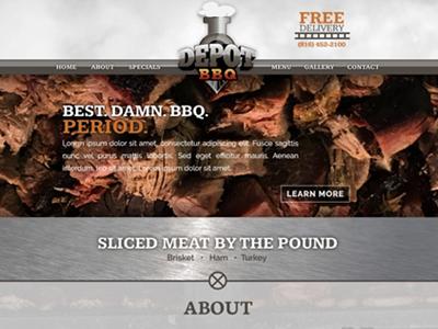 Depot BBQ - User Interface