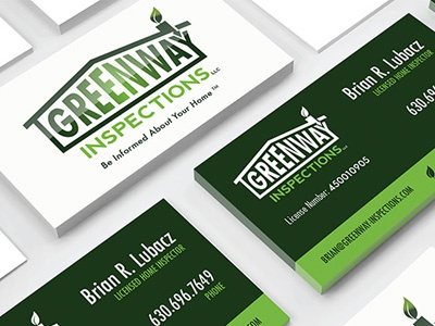 Greenway Inspections business cards branding logo