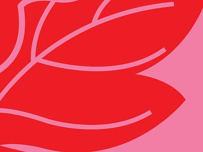 Thank You illustration flower red pink illustrator
