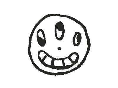 Get Weird art illustration smile smiley smiley face weird get weird cotton bureau print screenprint