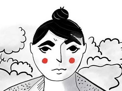 Top Bun Print girl illustration lady girl women top bun top gun illustrator illustration