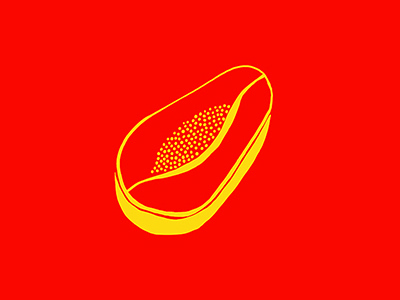 Papaya photoshop yellow red illustration india papaya