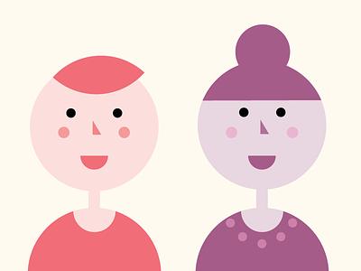 People ish gender neutral vector illustration vector illustrator illustrate illustration portrait comic people