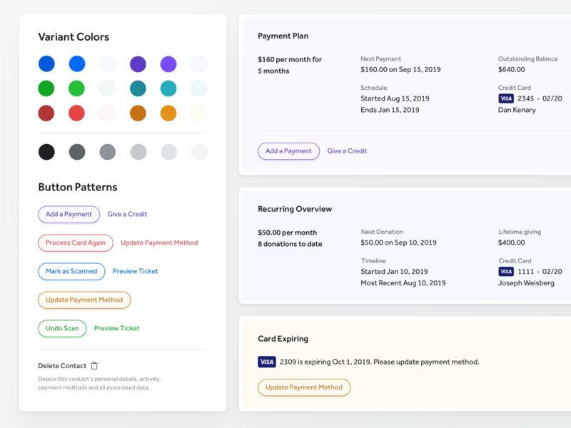 Button Patterns style guide styles events software product layout form field pattern component ux user experience ui user interface blue green yellow red color design system