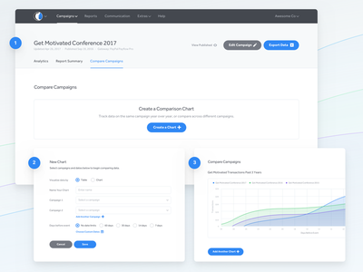 Compare ux ui fields form blue reports charts data compare events